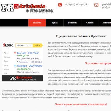 Продвижение сайта PR-YAR